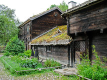Old ecological swedish cabin Stock Photo