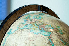 Old education globe. Close up shot of old education globe - Africa and Europe royalty free stock images