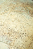 Old education globe texture. Close up shot of old education globe - Africa and Europe stock image