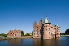 The old Egeskov Castle on Funen Royalty Free Stock Photo