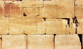 Old Egypt Hieroglyphs Royalty Free Stock Photo