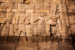 Old egypt hieroglyphs carved Royalty Free Stock Photos