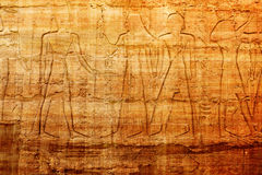 Old egypt hieroglyphs carved on the stone Royalty Free Stock Photos