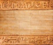 Old egypt hieroglyphs Stock Photography