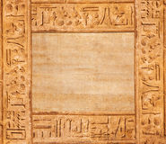 Old egypt hieroglyphs Stock Photos