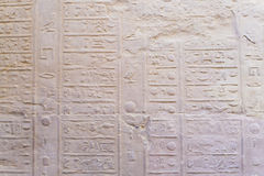 The old Egyptian calendar. Carved into the sandstone (Temple of Kom Ombo, Egypt Stock Photos