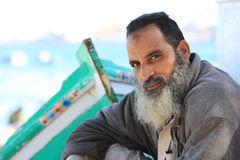 Old egyptian fisherman Royalty Free Stock Images