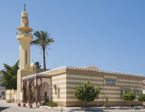 Old egyptian mosque building with minaret Royalty Free Stock Photo