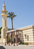 Old egyptian mosque building with minaret Royalty Free Stock Images