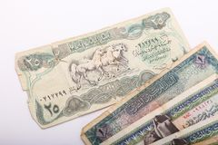 Old Egyptian Paper Money. On white background Stock Photography