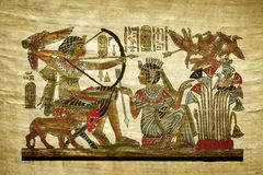 Old egyptian papyrus Royalty Free Stock Photography