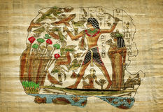 Old egyptian papyrus Stock Photography