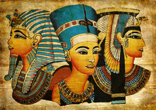 Old Egyptian papyrus Royalty Free Stock Images