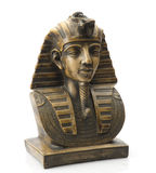 Old Egyptian pharaoh Statue isolated Royalty Free Stock Photos