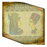 Old egyptian roll Stock Image