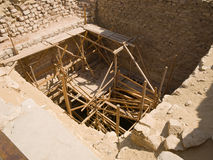 Old Egyptian stone well Stock Photo