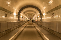 Old Elb Tunnel in Hamburg Royalty Free Stock Image
