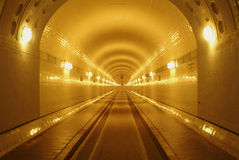 Old Elbe Tunnel. In Hamburg (Germany Stock Photo