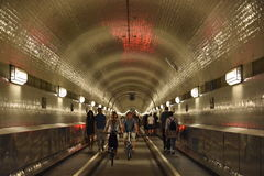 Old Elbe Tunnel in Hamburg Royalty Free Stock Photo