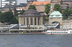 Old Elbe tunnel at Hamburg, Germany Royalty Free Stock Photography