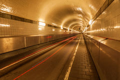 Old Elbe tunnel in Hamburg, Germany Stock Photos