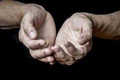Old elderly hands Stock Images