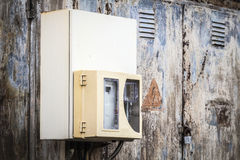 Old electric box Royalty Free Stock Images