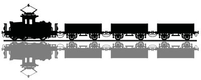 Old electric cargo train Royalty Free Stock Photography