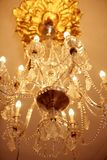 Old electric chandelier lamp Royalty Free Stock Photo