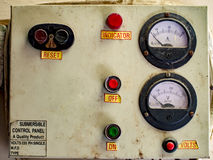 Old electric control panel Stock Photography