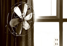 Old electric fan. In sepia royalty free stock images