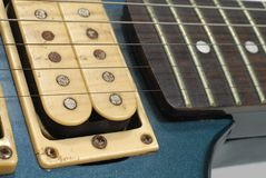 Old electric guitar pickups Stock Photo