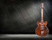 Old electric guitar vertical Stock Photography