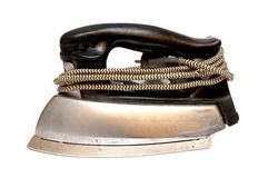Old electric iron Royalty Free Stock Photos