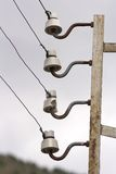 Old electric isolators. In use Royalty Free Stock Photo