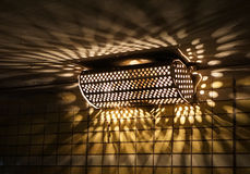 Old electric lamp in underground Stock Images