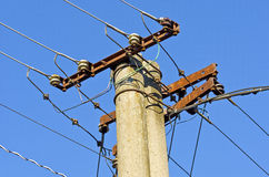 Old electric line Royalty Free Stock Photos