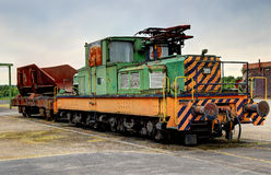 Old electric locomotive. Used to carry pig iron in the Henrichshuette Ironworks Museum, Hattingen, Germany Royalty Free Stock Photos