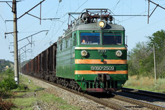 Old electric locomotive VL60k. Old electric locomotive, Kochevanchik, Russia, August 9, 2011, electric locomotive VL60k, in our time already a great rarity Stock Photography