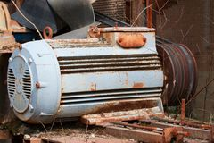 Old electric motor Royalty Free Stock Photography