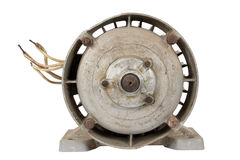 Old electric motor (isolated) Royalty Free Stock Image