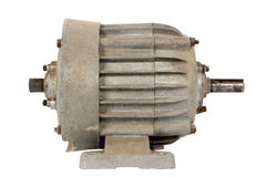 Old electric motor (isolated) Stock Photos