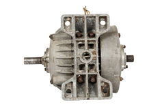 Old electric motor (isolated) Royalty Free Stock Photography