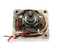 Old electric motor isolated Royalty Free Stock Photo