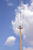 Old electric pole Royalty Free Stock Photos