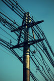 Old electric pole stock photos