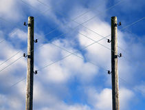 Old Electric Pole Stock Photo