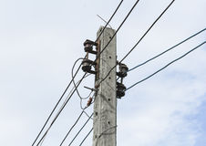 Old electric pole Stock Photography