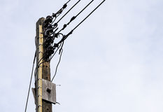 Old electric pole Royalty Free Stock Photography