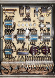 Old electric service panel Stock Photo